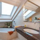 Zimmeransicht Badezimmer Boutique Hotel Angerer Murnau
