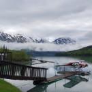Trail Lake Lodge float plane dock on Upper Trail Lake